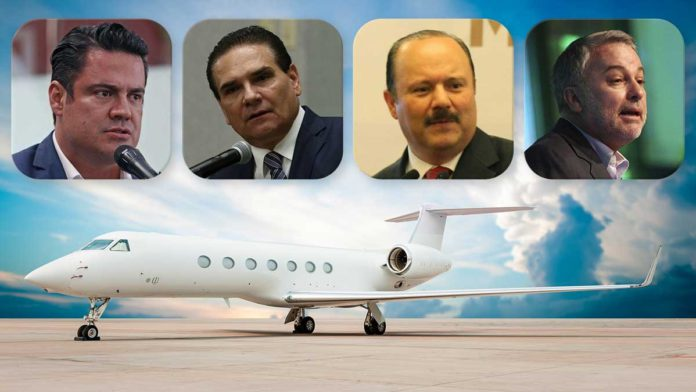 Políticos y aviones